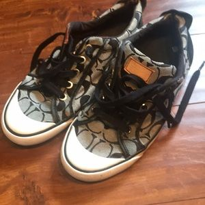 Coach gray black signature C Sneakers